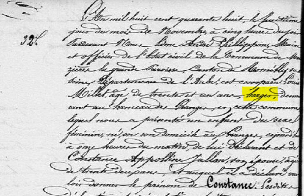 acte de naissance archives départementales Aube Maizières la grande paroisse